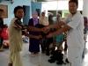 Penyerahan paket-paket daging qurban ke Yayasan Sakinah, Denpasar