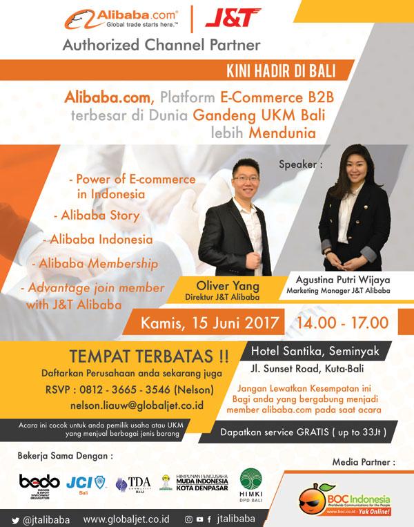 Workshop Alibaba J&T dan BOC di Bali
