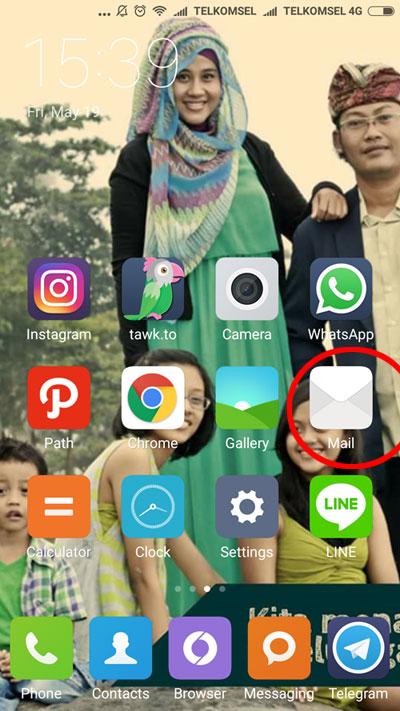 Tampilan layar Android