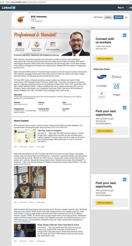 LinkedIn BOC Indonesia