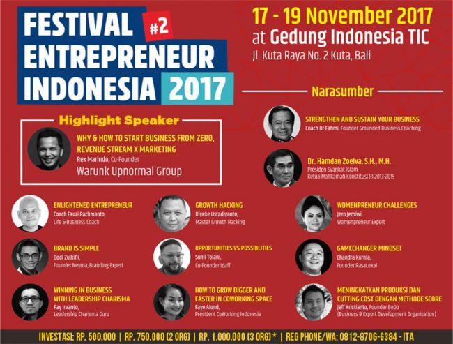Festival Entrepreneur indonesia di Bali