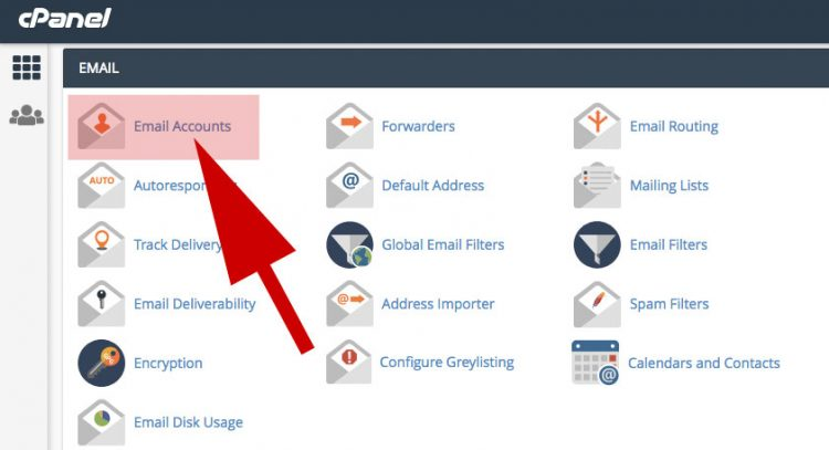email di cpanel