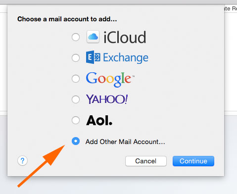 Macmail setting installation