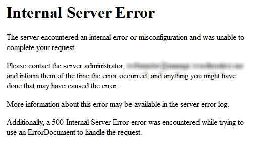 Penanganan Internal Server Error