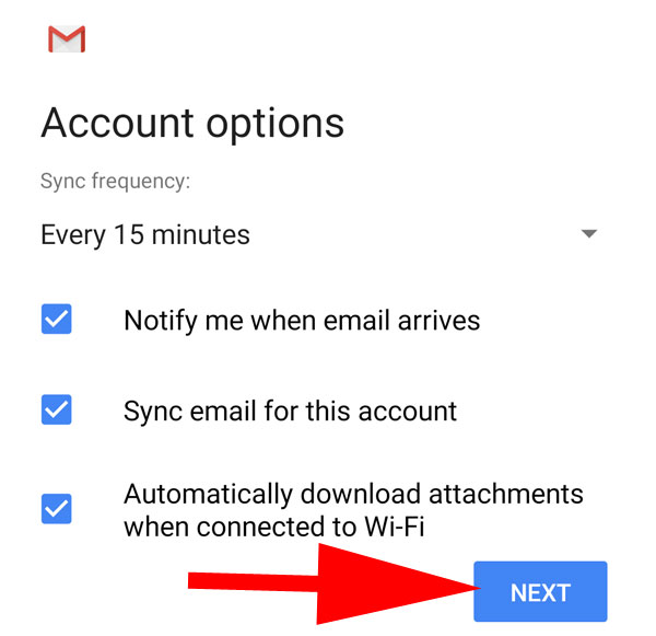 Setting email di Android Smartphone