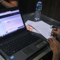 Laptop peserta di Pelatihan workshop digital internet marketing