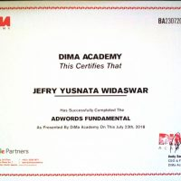 Sertifikat Jefry workshop google adwords