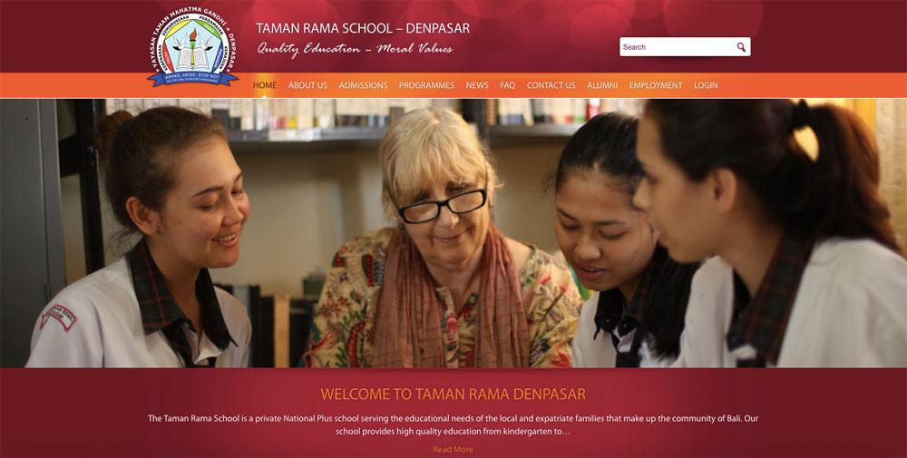 Website Taman Rama Denpasar di tamanramadenpasar.com