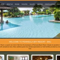 Website Peninsula Bay Resort di peninsulabayresortbali.com