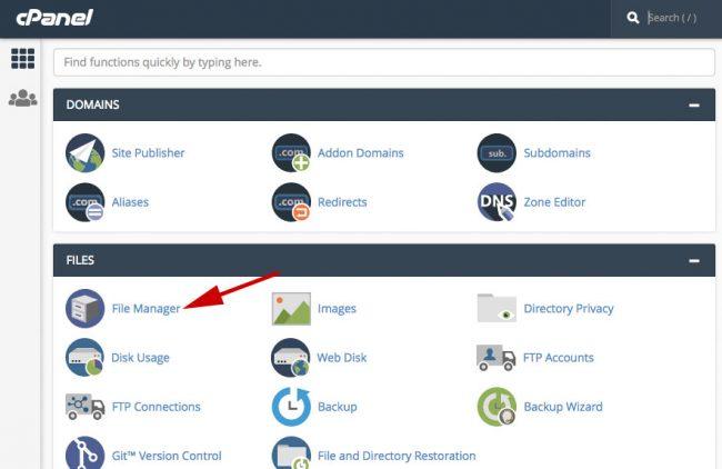 Verify website dengan cpanel