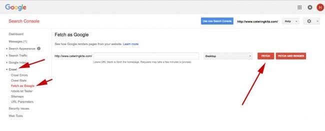 Google Search Console Versi lama