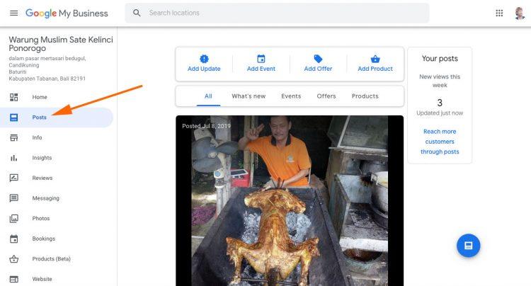 Posting Update Konten Google Site