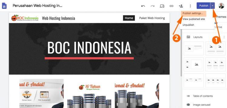 custom domain google site