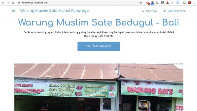 Google site satebedugul