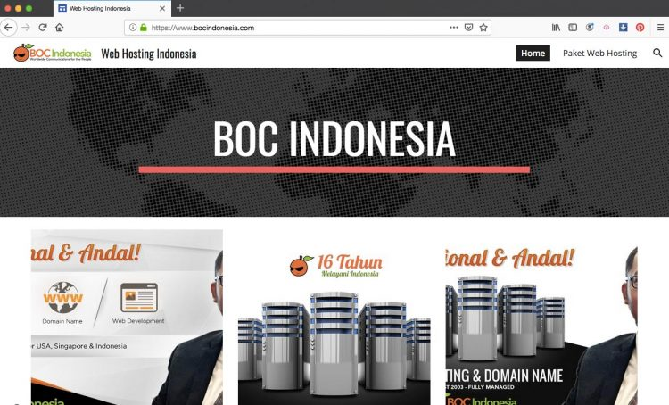 Custom Domain name berhasil di Google Sites
