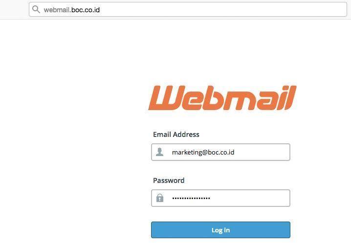 Cara hapus email login dulu ke webmail