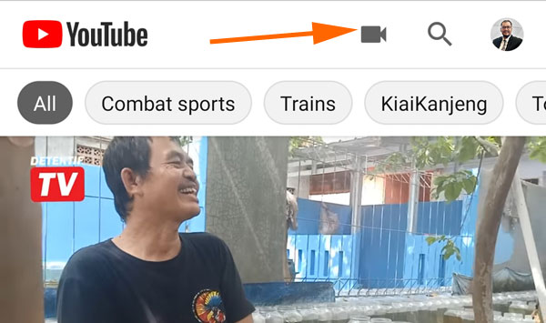 Cara upload youtube ke HP