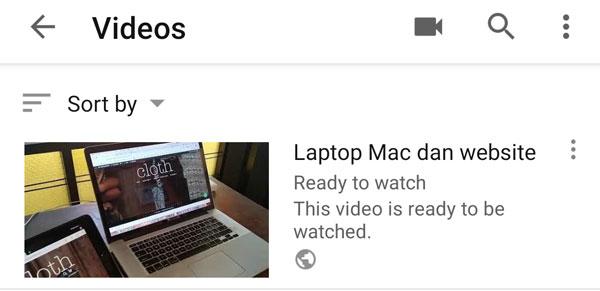 Video sudah siap
