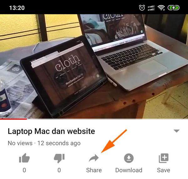 Video siap di share