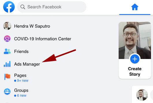 Ads manager di Facebook
